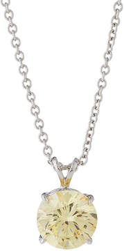 FANTASIA Round Canary CZ Crystal Pendant Necklace