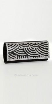 Camille La Vie Rhinestone Scallop Full Flap Handbag