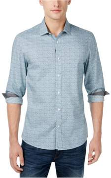 Michael Kors Printed Button Up Shirt Blue S