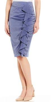 Antonio Melani Costa Striped Pencil Skirt