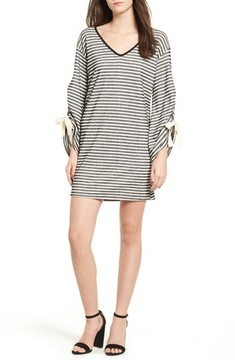 Everly Women's Tie Sleeve Sweatshirt Dress