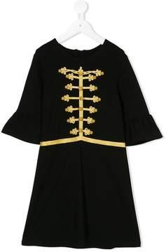 John Richmond Kids cornelli braid trim dress