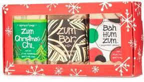 Indigo Wild Assorted Holiday Mini Zum Bar Soap Set by 3pcs Bars Of Soap)