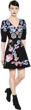 Temperley London Tattoos Hand-Embroidered Poplin Dress
