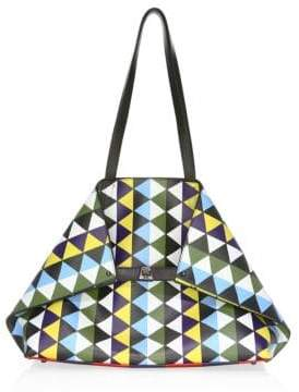 Akris Ai Medium Printed Leather Tote