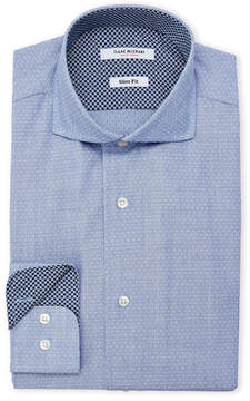 Isaac Mizrahi Blue Slim Fit Dress Shirt
