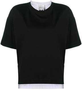 Edward Achour Paris contrast short-sleeve top