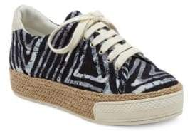 Dolce Vita Tala Calf Hair Trimmed Espadrille Platform Sneakers