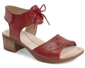 Dansko Women's 'Liz' Lace-Up Block Heel Sandal
