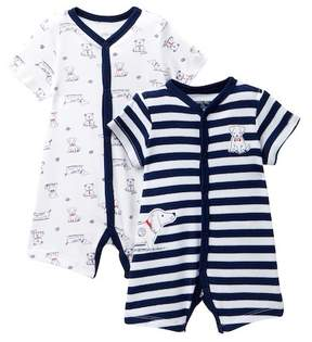 Little Me Puppy Rompers - Pack of 2 (Baby Boys)
