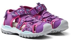 Geox Purple Velcro Water Friendly Borealis Sandals