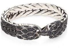 John Hardy Legends Sapphire & Sterling Silver Eagle Head Bracelet