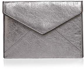 Rebecca Minkoff Leo Metallic Leather Clutch - GUNMETAL GRAY/GUNMETAL - STYLE