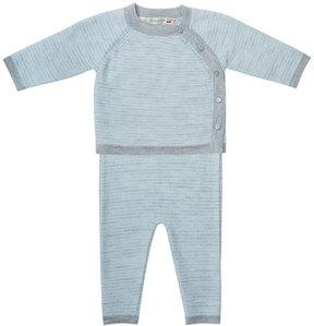 Bonpoint Striped Knit Shirt w/ Leggings, Size 3-12 Months