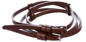 Barneys New York Barney's New York Leather Buckle Belt