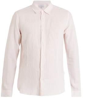 Orlebar Brown Morton point-collar striped linen shirt
