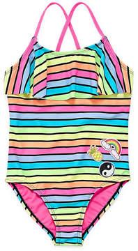 Arizona Stripe One Piece Swimsuit - Girls' 4-16