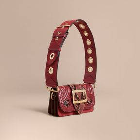 Burberry The Patchwork in Snakeskin and Textured Suede - PINK - STYLE