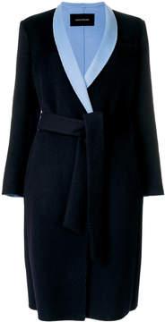 Cédric Charlier contrast-lapel tailored coat