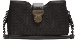 Bottega Veneta Intrecciato-woven leather shoulder bag