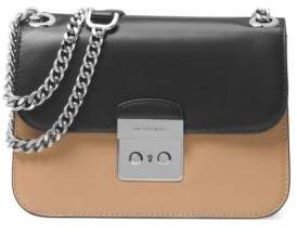 MICHAEL Michael Kors Colorblock Leather Shoulder Bag - CASHEW BROWN - STYLE