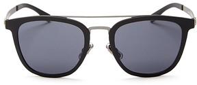 HUGO BOSS Square Aviator Sunglasses, 52mm