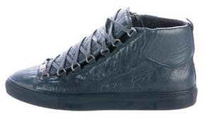 Balenciaga Leather Arena Sneakers