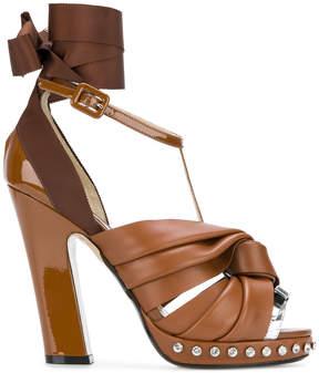 No.21 Lilla Swarovski crystal-embellished sandals