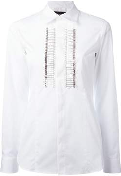 DSQUARED2 safety pin tuxedo shirt