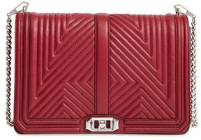 Rebecca Minkoff 'Geo Quilted Love Jumbo' Crossbody Bag - Burgundy