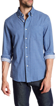 Jack Spade Palmer Double Face Checkered Trim Fit Shirt