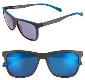 BOSS Men's 55Mm Sunglasses - Matte Black Blue/ Blue Sky