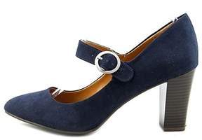 Style&Co. Style & Co. Womens Alabina Suede Closed Toe Ankle Strap Mary Jane Pumps.
