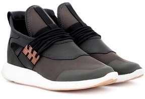 Y-3 Elle Run leather and fabric sneakers