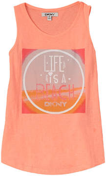 DKNY Girls' Life Is A Beach Tank