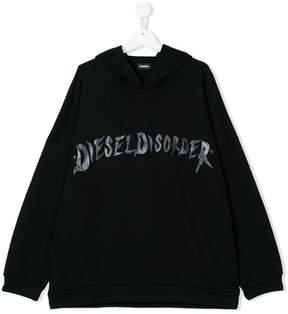 Diesel Kids Disorder printed hoodie