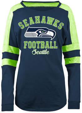 5th & Ocean Women's Seattle Seahawks Space Dye Long Sleeve T-Shirt