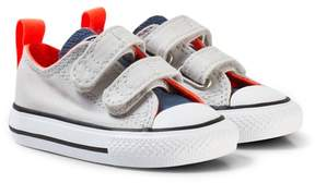 Converse Grey Velcro Chuck Taylor All Star Infant Trainers
