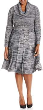 Calvin Klein Women's Cowl Marled Sweater Dress
