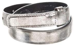 Oscar de la Renta Metallic Skinny Belt