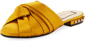 No.21 No. 21 Satin Knotted Flat Mule