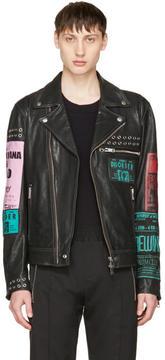 Diesel Black Leather L-Hater-Ed Jacket