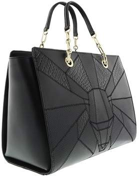 Roberto Cavalli Medium Handbag Elisabeth 002 Black Satchel Bag.