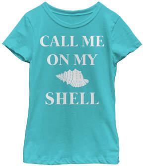 Fifth Sun Tahiti Blue 'Call me on my Shell' Tee - Girls