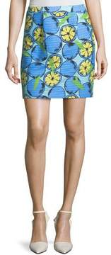 Moschino Lemon-Print Cotton Skirt