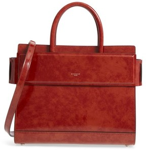 Givenchy Small Horizon Calfskin Leather Tote - Brown