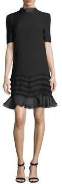 Camilla And Marc Melody Ruffle Trim Short-Sleeve Mini Dress