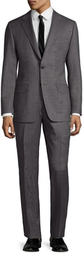 Hickey Freeman Men's Wool Birdseye Notch Lapel Suit