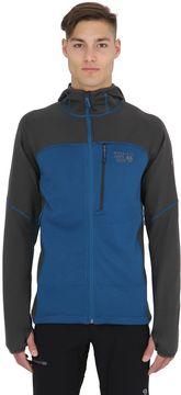 Mountain Hardwear Desna Grid Hooded Nylon Fleece Jacket