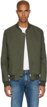 A.P.C. Green Herve Bomber Jacket